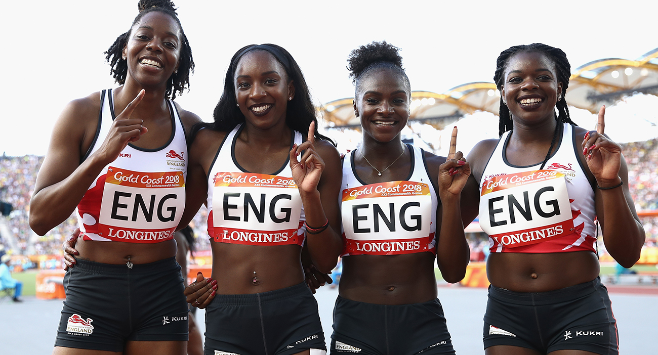 Lorraine Ugen, Bianca Williams, Dina Asher-Smith and Asha Philip of England