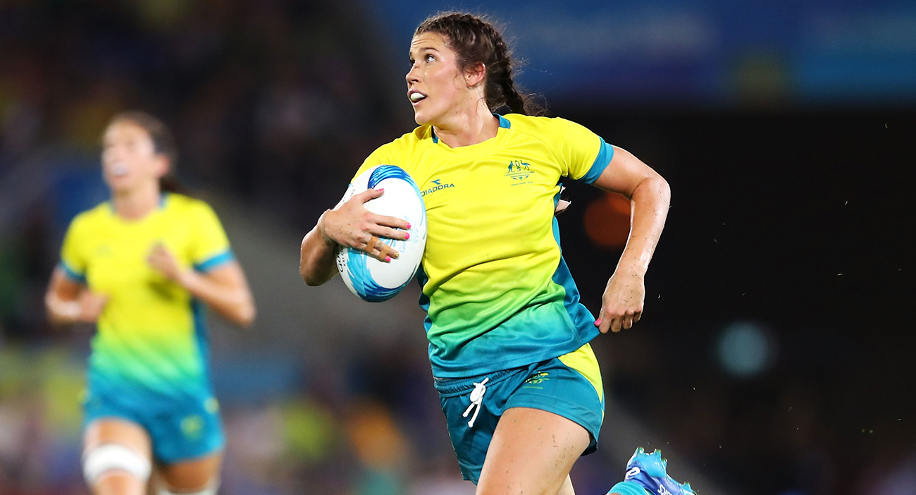 Charlotte Caslick scored important tries to lead Australia into the semifinals.