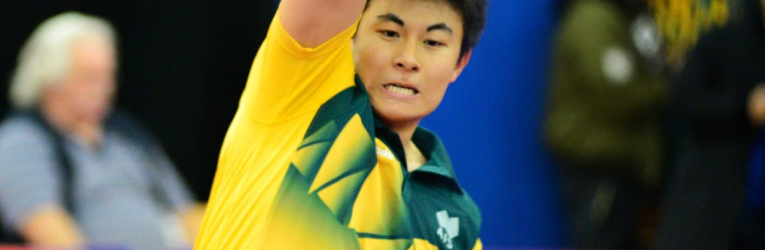 Heming Hu is the top ranked Australian table tennis player.