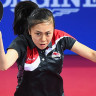 England's Tin-Tin Ho plays a shot during the table tennis competition at Glasgow 2014 Commonwealth Games.