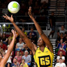 Romelda Aiken was a dominant force on the netball court.